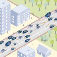 traffic with dynamic digital road signs.
