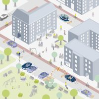 Traffic reduced by carsharing and people-friendly repurposing of land