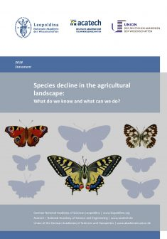 "Cover of the publication ""Species decline in the agricultural landscape - What do we know and what can we do?"""