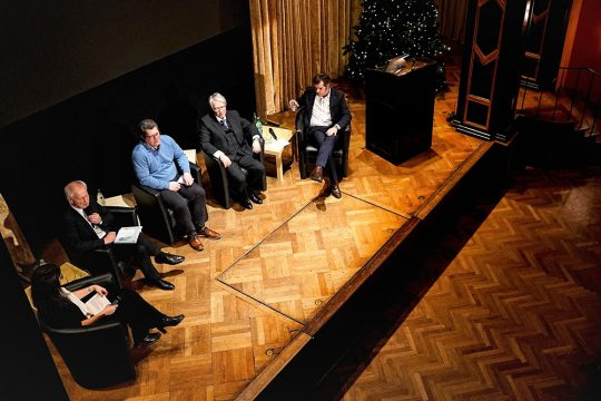 "Panel discussion ""What might sustainable agriculture look like in the future?"" at the Münchner Künstlerhaus on 3 December 2019."
