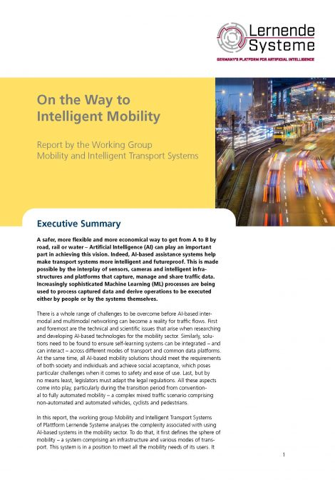 """Cover of the publication """"On the Way to Intelligent Mobility"""""""