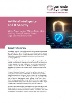 """Cover of the publication """"Artificial Intelligence and IT Security"""""""