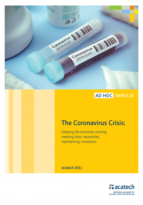 "Cover of the publication ""The Coronavirus Crisis"""
