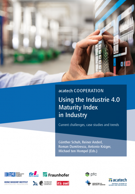 """Cover of the publication """"Using the Industrie 4.0 Maturity Index in Industry"""""""