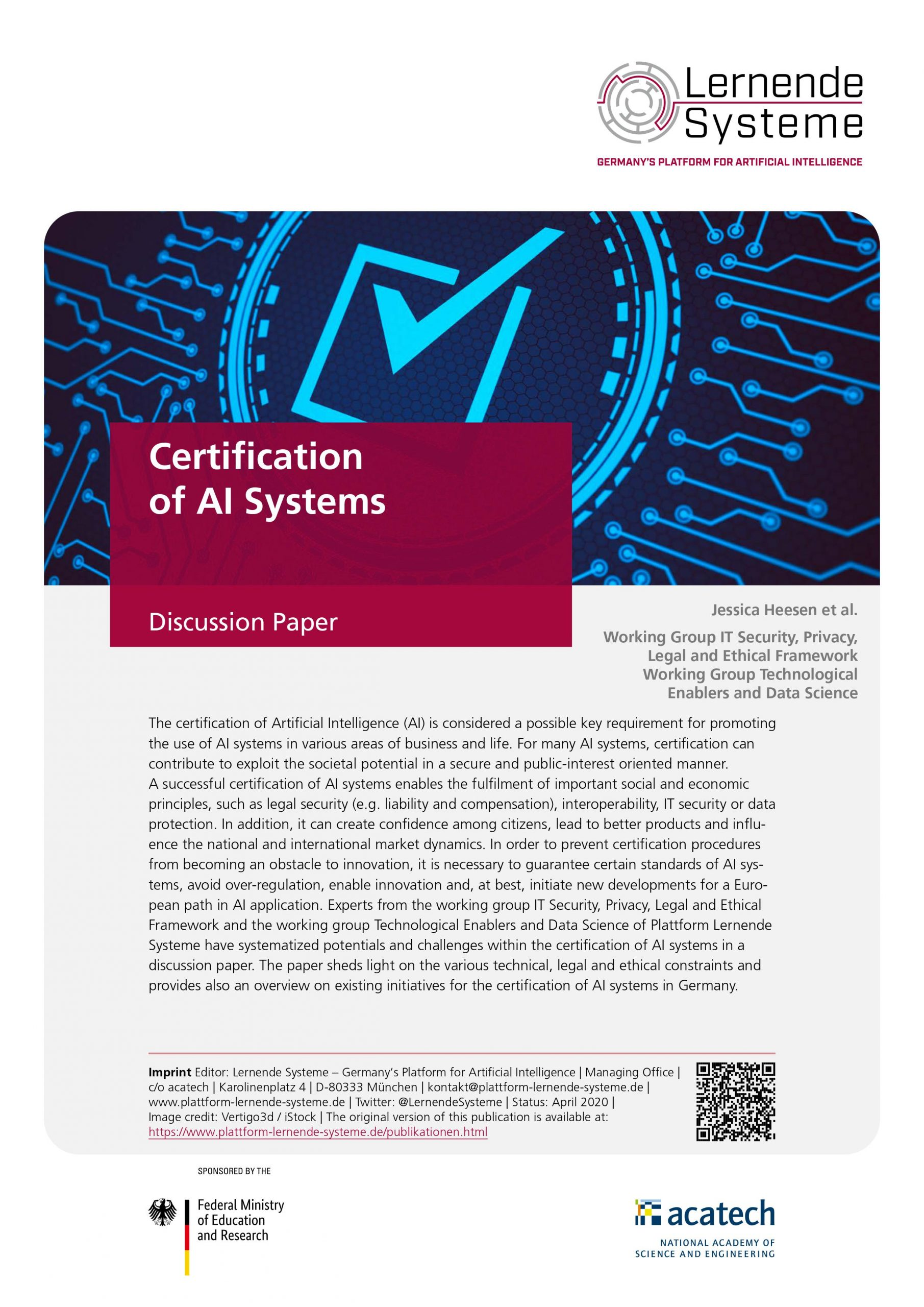certification systems ai acatech engineering national