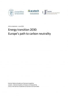 """Cover of the publication """"Energy transition 2030"""""""