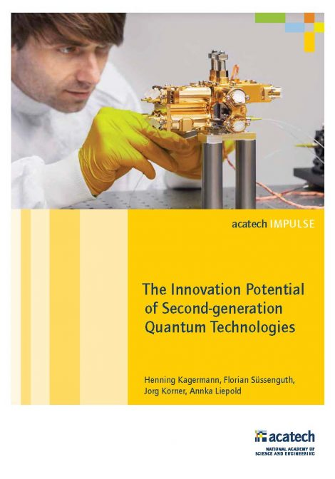 """Cover of the publication """"The Innovation Potential of Second-generation Quantum Technologies"""""""