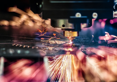 Sparks from the machine
