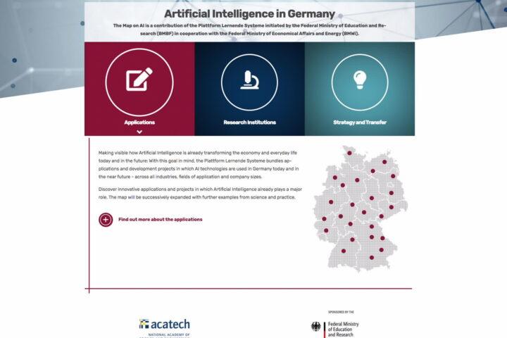 Screenshot englisch version of map on AI