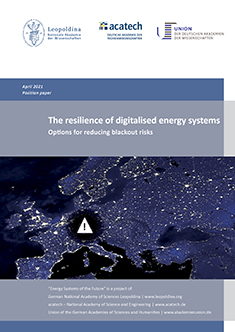 """Cover of the publication """"The resilience of digitalised energy systems"""""""