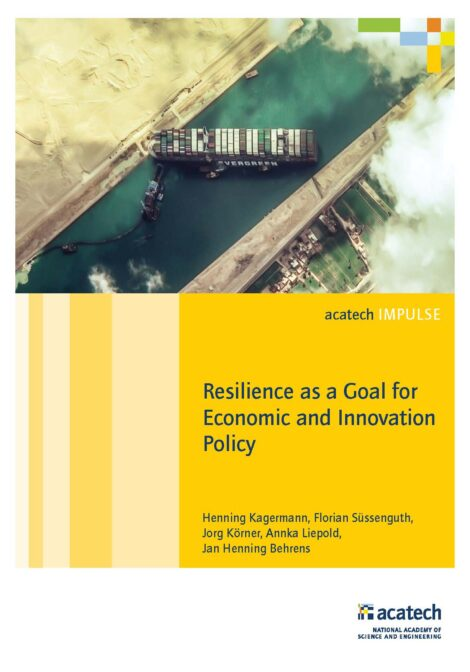 """Cover of the publication """"Resilience as Economic and Innovation Policy Goal"""""""