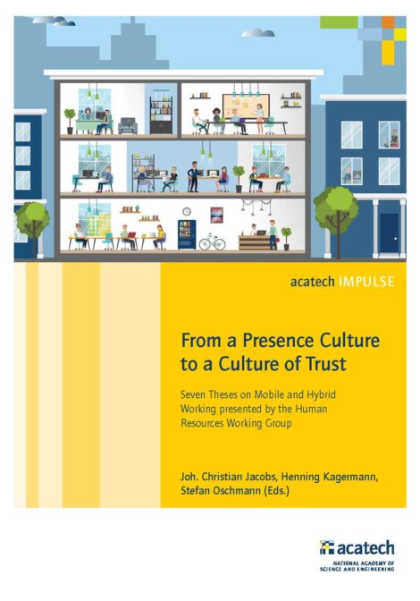 """Cover of the publication """"From a Presence Culture to a Culture of Trust"""""""