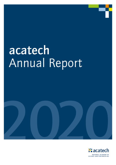"""Cover of the publication """"Annual Report 2020"""""""